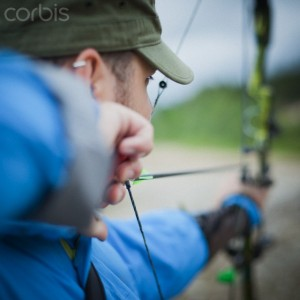 men with compound bow